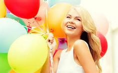 Image result for happy girl with balloons