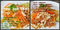 Living On The Vedge: Raw Pad Thai.