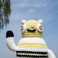 Cute Handmade Crochet BEAR W by CharlesinNeedleland on Etsy
