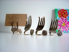 Place card or table number holders.
