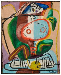 Femme et mains, Le Corbusier, 1948, huile sur toile, signe´ et date´ en bas a` droite Le Corbusier 48, 0,80 x 0,65m. ©Fondation Le Corbusier-ADAGP, Paris 2013.