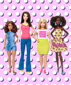 Mattel Release Barbie Body Types Tall, Petite, Curvy   Mattel is introducing three new body types into its Fashionistas range of Barbie dolls — curvy, tall, and petite. #refinery29 http://www.refinery29.com/2016/01/102098/barbie-new-body-types