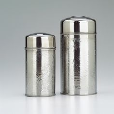 Stainless Steel Tea Canister - 8 oz. (Embossed) - Gong Fu Tea