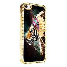 Tiger Indian Art iPhone 5/5S Case Cover Diamond Crystal Rhinestone Bling Hard Gold Case Cover Protector PAZATO http://www.amazon.com/dp/B00NSDV8WU/ref=cm_sw_r_pi_dp_2Hziub0AK4XJ2