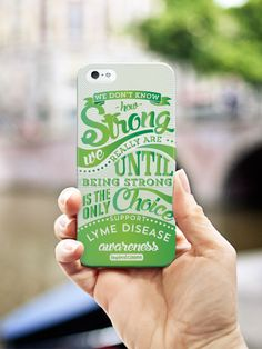Inspired Cases How Strong - Lyme Disease Awareness Case for iPhone 5c Inspired Cases