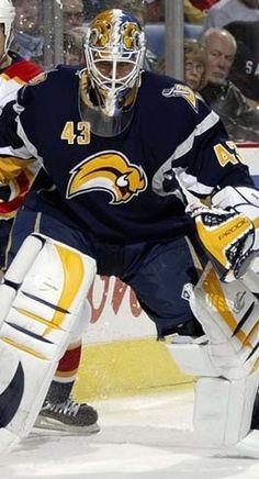 Martin Biron - formerly with the Buffalo Sabres --- Hockey Goalie, Hockey Teams, Ice Hockey, Hockey Stuff, Nhl, Hockey Season, Goalie Mask, Buffalo Sabres, Win Or Lose