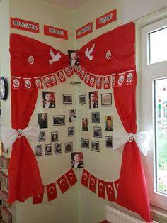 résultat visuel lié au tableau d& atatürk - - Independent Day, Indonesian Independence, Blue Christmas Decor, Art And Craft Videos, Blog Backgrounds, Grande Section, Class Decoration, Classroom Door, Class Projects