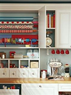 scrapbook room ideas! This is so me with a coffee machine in the space too... But mine would be a Nespresso obviously!!