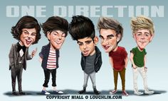 one direction caricature :D