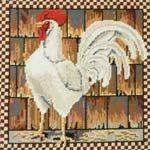 Needlepoint rooster.