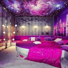 Lovely This Would Be My Daughteru0027s Room When She Is A Teen. The Stars In The  Ceiling Add A Great Touch. The Pink Would Fit Her Personality.