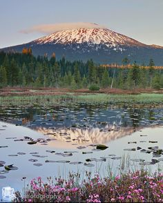 Hosmer Lake and Mt. Bachelor near Bend, Oregon