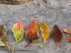 Resultado de imagem para wet felted autumn leaves