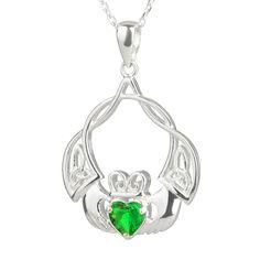Sterling Silber mit Roségold /& Perle Keltischer Trinity Anhänger aus Irland