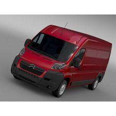 Citroen Relay Van L3H2 2006 - 3D Car for Maya