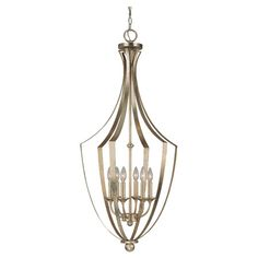 Openwork pendant with candlestick shades.  Product: PendantConstruction Material: Metal and glassCol...