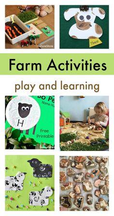farm activities for preschool - simple animal crafts - farm theme activities - love!