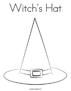 witchs hat coloring page that you can customize and print for kids