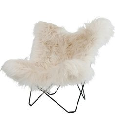 Islandic Sheepskin Butterfly chair for a reading corner...