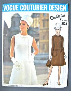 Vogue Couturier Design 2123 from the 1960s Galitzine is the designer.  Uncut with label.  Bust 32 on Etsy, $59.70 AUD