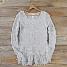 Lake Chelan Lace Sweater in Fog