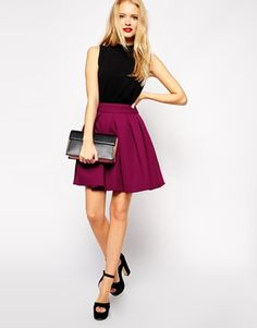 ASOS skirt in berry   buy it now: http://rstyle.me/n/r76shsque