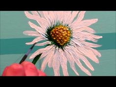 How to paint a daisy - STEP by STEP - YouTube
