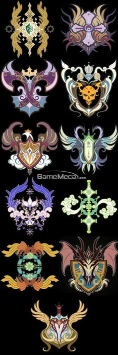 some colourful emblems, this has a nice vibrant look to it…