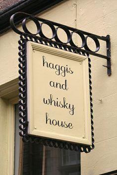 Haggis and Whisky House, Edinburgh, Scotland