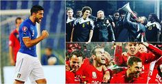 EURO SUCCESS 🎉 Pelle and Hazard celebrate Italy and Belgium topping their Euro 2016 groups.  And Ramsey enjoys Wales' historic qualification on Tuesday... But how will they get on next year?