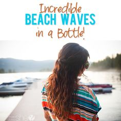 beach wavy hair 8 oz. of warm distilled water 1 teaspoon of cheap coconut conditioner 1 squirt of gel or hair smoothing cream 1 squirt of gloss drops 1 tablespoon of sea salt (the fine kind) 1/4 a  teaspoon of alcohol  (not necessary- mostly used as preservative)