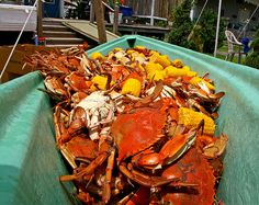 Cajun crab and crawfish boil  I want a crab boil party...this looks so good!!!
