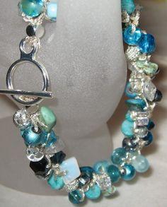 Colors of the Sea Boho Beach Wedding Bracelet by SerebaDesigns, $50.00