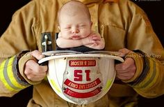 firefighter and baby! Terrie, excellent idea for photos