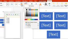 Când faceți clic pe pictograma SmartArt în PowerPoint într-un aspect sau o alegeți din meniul Insert, vi se prezintă o casetă de dialog cu opțiunile. Text Color, Sorting, Poker, Outline, Bar Chart, Computers, Bar Graphs