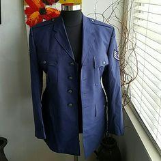5a564f8eefb8 Vintage Navy blue military jacket men's Navy blue military jacket 46L  Jackets & Coats Men
