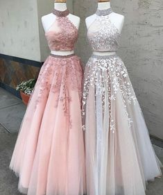 Prom Dresses Lace, Prom Dresses Two Piece, Modest Prom Dresses, A-Line Prom Dresses, Custom Made Prom Dresses Prom Dresses Long Outlet Delightful Prom Dress For Cheap Two Piece Prom Dress A-line Simple Modest African Lace Cheap Long Prom Dress # Prom Dresses Long Pink, Lace Evening Dresses, Dress Lace, Wedding Dresses, Tulle Wedding, Dress Prom, Dress Formal, Formal Prom, Halter Top Prom Dresses