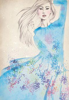 BCBG Max Azria - Fashion Illustration by Erica Sharp