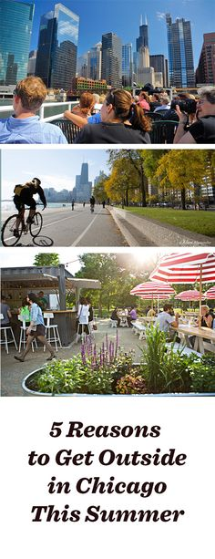 It's time to get outside and enjoy Chicago's summer! Listen to a concert, eat al fresco, check out a bike trail, take a cruise on the river: http://www.midwestliving.com/blog/travel/5-reasons-to-get-outside-chicago-this-summer/