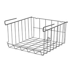 pantry for bread shelves next to desk OBSERVATÖR Clip-on basket, gray-brown - IKEA Ikea Variera, Ivar Regal, Recycling Facility, Foldable Table, Ikea Family, Pantry Organization, Organizing, Pantry Storage, Dog Storage
