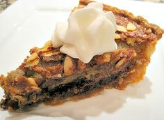 Almond Kentucky Derby Pie - Bourbon-soaked chocolate and nut pie, perfect for Kentucky Derby weekend and all year!
