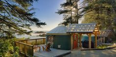 Glamping in a yurt at Wya Point Resort, Ucluelet, Vancouver Island, British Columbia, Canada Luxury Tents, Luxury Camping, Pacific Yurts, Pacific Rim, Open Hotel, Yurt Living, Go Glamping, Tent Camping, Canada