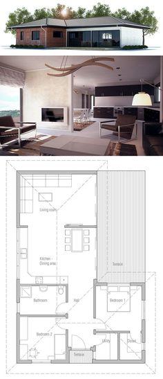 Small House Plan #singlestoreyhomeplans