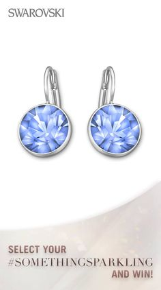 How about Swarovski Bella Earrings for your something blue? Win some Win Swarovski wedding sparkle and participate in our #SomethingSparkling contest https://www.facebook.com/SWAROVSKI.global/app_1416019598619377?ref=ts