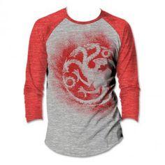 Game of Thrones Targaryen Raglan T-shirt: HBO Shop Europe
