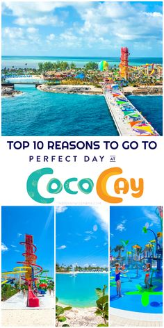 Top 10 Reasons to Go to Perfect Day at CocoCay, Royal Caribbean's New Private Island! Cruise Vacation, Vacation Trips, Vacation Ideas, Vacations, Cool Places To Visit, Places To Go, Cruise Tips Royal Caribbean, Harmony Of The Seas, Beach Trip