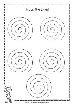 Learn how to improve your writing skills by working on pencil control using spiral tracing worksheets. Help your child practice and master writing by tracing shapes, a swirl will help with differen… Quilting Stitch Patterns, Quilting Templates, Quilting Tips, Machine Quilting, Quilting Designs, Line Tracing Worksheets, Free Printable Worksheets, Writing Worksheets, Kindergarten Worksheets