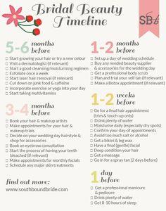 SBB Bridal Beauty Zeitleiste - Wedding Home Wedding Checklist Timeline, Wedding Schedule, Wedding Timeline, Wedding Planning Checklist, Wedding Checklists, Engagement Timeline, Wedding Preparation Checklist, Budget Wedding, Wedding Tips