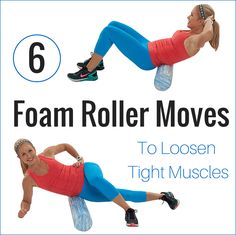 If your muscles are in knots and or feeling tight, the foam roller might be the easiest fix you've ever found. Try these 6 moves before your next workout!