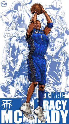 Tracy McGrady Career Montage Illustration